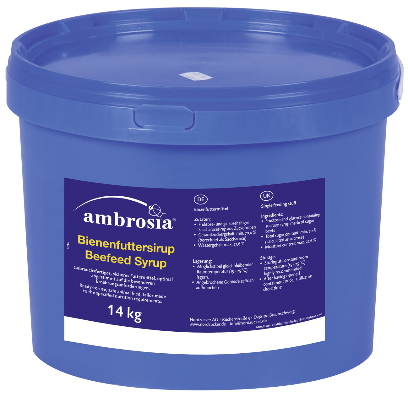 AMBROSIA BIENENFUTTER FUTTERSIRUP IMKEREI 12,5 KG KANISTER